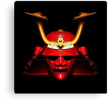 Red Kabuto (Samurai helmet) T-shirts and Stickers Canvas Print