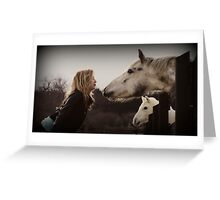 Just Horsin' Around Greeting Card