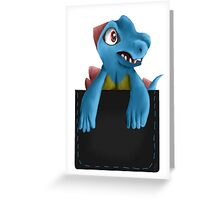 Pocket Totodile Greeting Card
