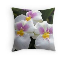 Tres Chicas Throw Pillow
