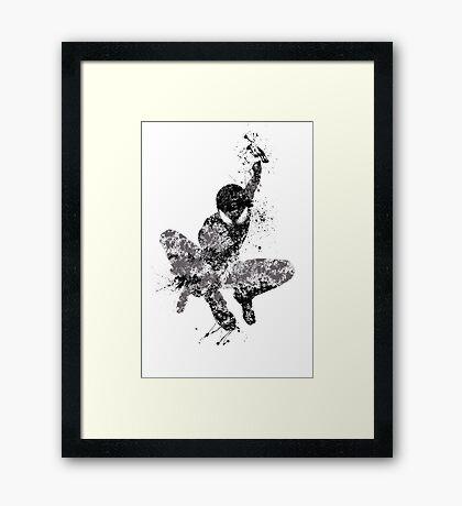 Spider-Man Splatter Art Framed Print