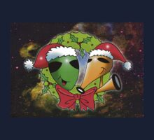 alien christmas Kids Tee