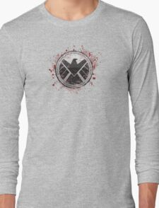 S.H.I.E.L.D Emblem (red) Long Sleeve T-Shirt