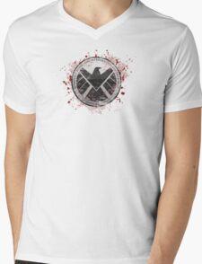 S.H.I.E.L.D Emblem (red) Mens V-Neck T-Shirt