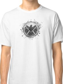 S.H.I.E.L.D Emblem (in gray with white background) Classic T-Shirt