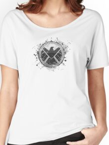 S.H.I.E.L.D Emblem (in gray with white background) Women's Relaxed Fit T-Shirt