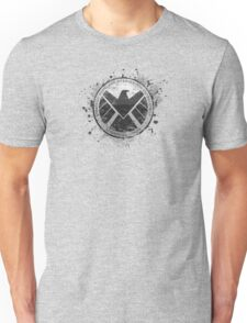 S.H.I.E.L.D Emblem (in gray with white background) Unisex T-Shirt
