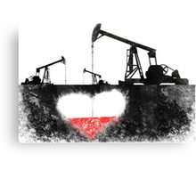 pump oil heart Canvas Print