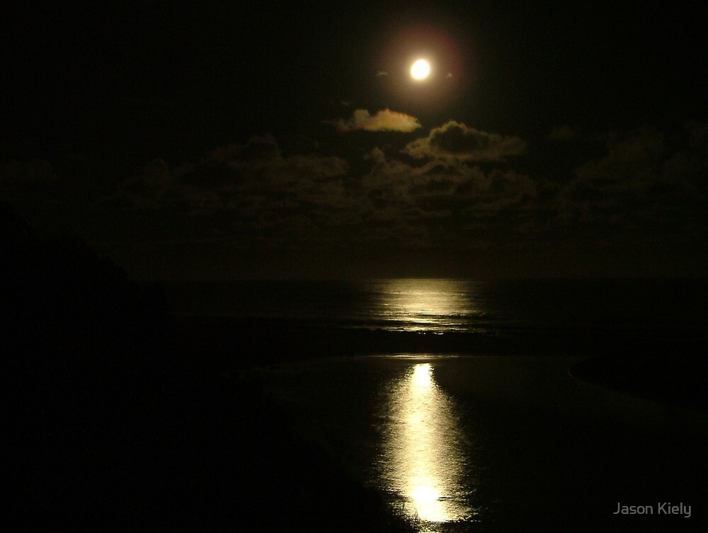 Moonlight at Johanna Beach by Jason Kiely
