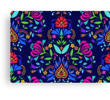 folk pattern - mexican vacation.  Canvas Print