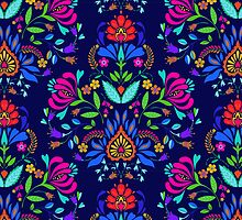 folk pattern - mexican vacation.  by Elena Belokrinitski