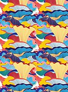 pattern of mushrooms by Tanor