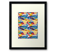 pattern of mushrooms Framed Print