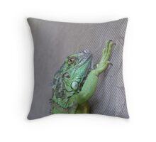 chilling iguana Throw Pillow