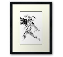 Thor Splatter Art Framed Print