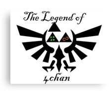 Legend of 4chan/8chan  Canvas Print