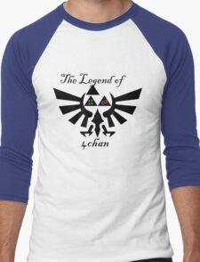Legend of 4chan/8chan  Men's Baseball ¾ T-Shirt