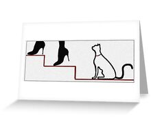 Cat Following Greeting Card