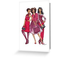 Ladies in Red Greeting Card