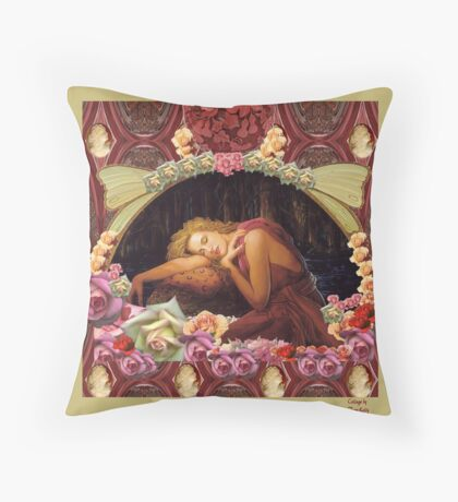 Girl Dreaming-Square Picture Throw Pillow