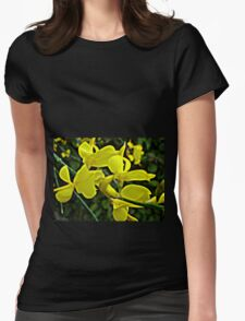 Glorious Yellow Womens Fitted T-Shirt