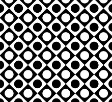 Bold Black and White Retro Sixties Pattern by Steve Crompton