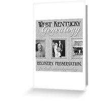 West Kentucky Genealogy Greeting Card
