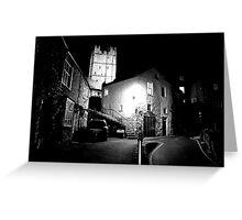 Richmond Castle At Night Greeting Card
