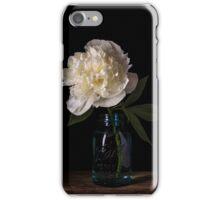 White Peony Flower iPhone Case/Skin