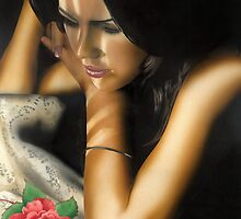 """""""The Rose"""" Water colour painting by John D Moulton"""