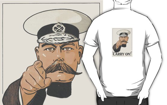 Lord Kitchener Orders You to Carry On T Shirt by simpsonvisuals