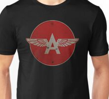 Flying A Gasoline Red Circle Rusty version Unisex T-Shirt