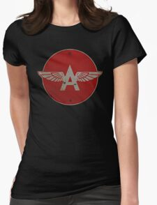 Flying A Gasoline Red Circle Rusty version Womens Fitted T-Shirt