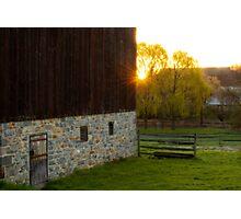 Sunrise at Burnside Plantation Photographic Print