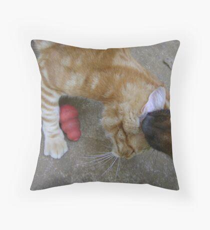 Mmmmm.....ear wax! Throw Pillow