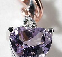 Amethyst Heart Pendant by Doug Greenwald