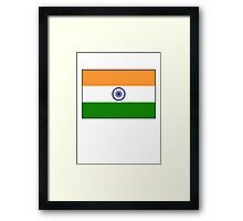 INDIA, India Flag, The National Flag of India, Pure & Simple Framed Print