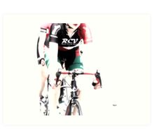 Biking In Her RCV Art Print
