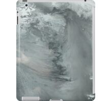 black and white - fluid painting iPad Case/Skin