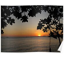 Framed Sun Poster