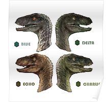 Jurassic Word - Raptors Poster