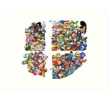 Super Smash Bros. WiiU and 3Ds + DLC Art Print