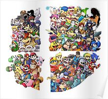 Super Smash Bros. WiiU and 3Ds + DLC Poster