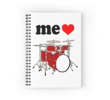 Me Love Drums Spiral Notebook