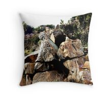 Gold Claim marker Throw Pillow
