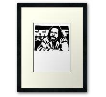 Big Lebowski THE DUDE Framed Print