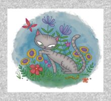 Cat in the Grass Kids Clothes