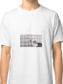 Cat drinking from a tap Classic T-Shirt