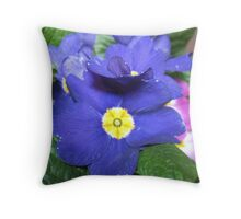 Indigo Prim Throw Pillow