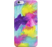 Watercolors Pink Blue Purple Yellow iPhone Case/Skin